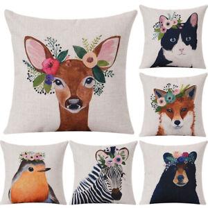 Am-KF-Cute-Zebra-Deer-Animal-Throw-Pillow-Case-Cushion-Cover-Sofa-Bedding-Arti