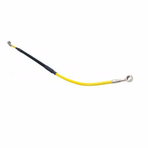 Tusk Front Steel Braided Brake Line Yellow  RMZ450