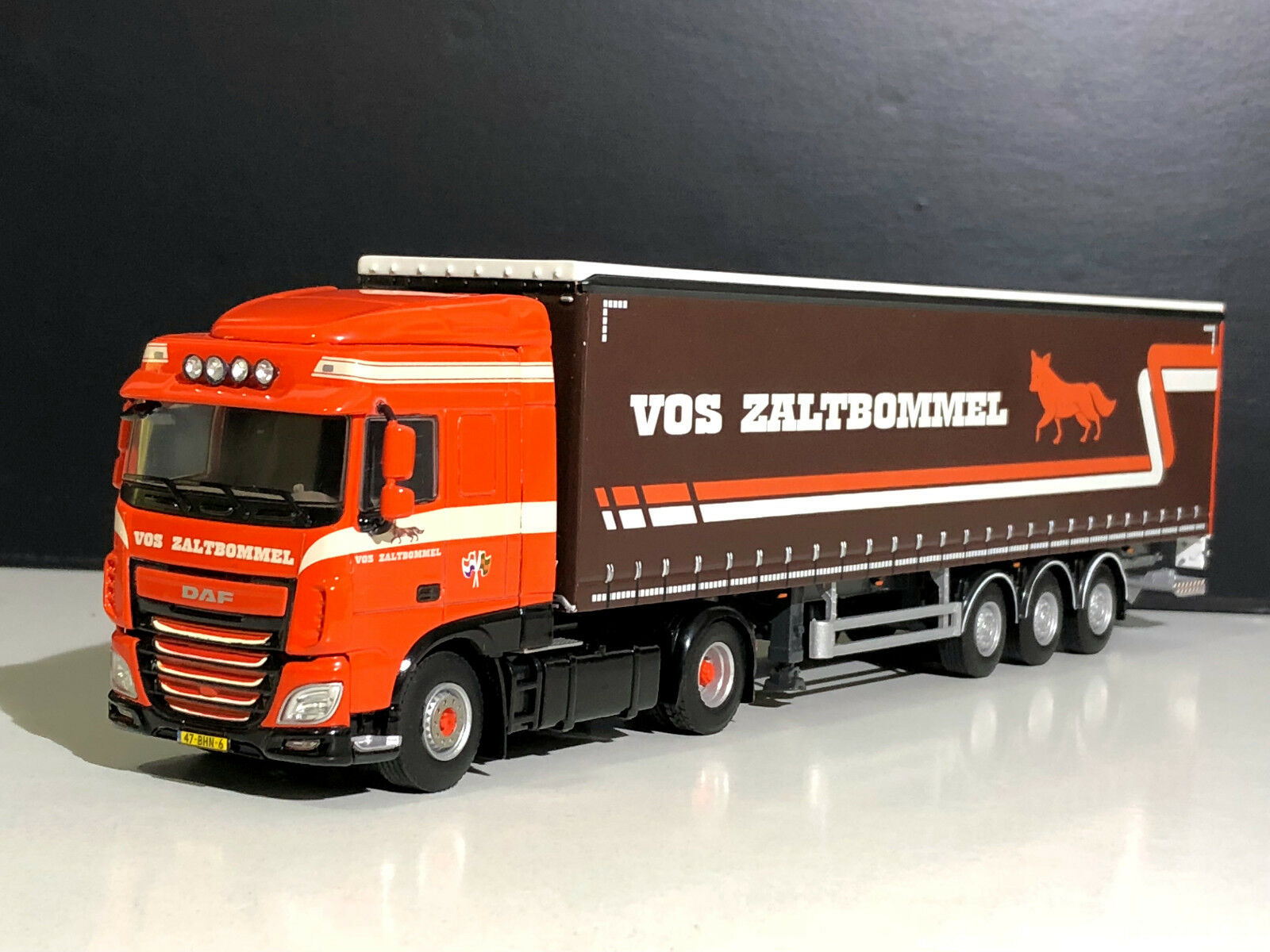 DAF TRUCK WSI ModellllS WITH CURTAINSIDE TRAILER VOS TRANSPORT IDEAL CHRISTMAS Geschenk