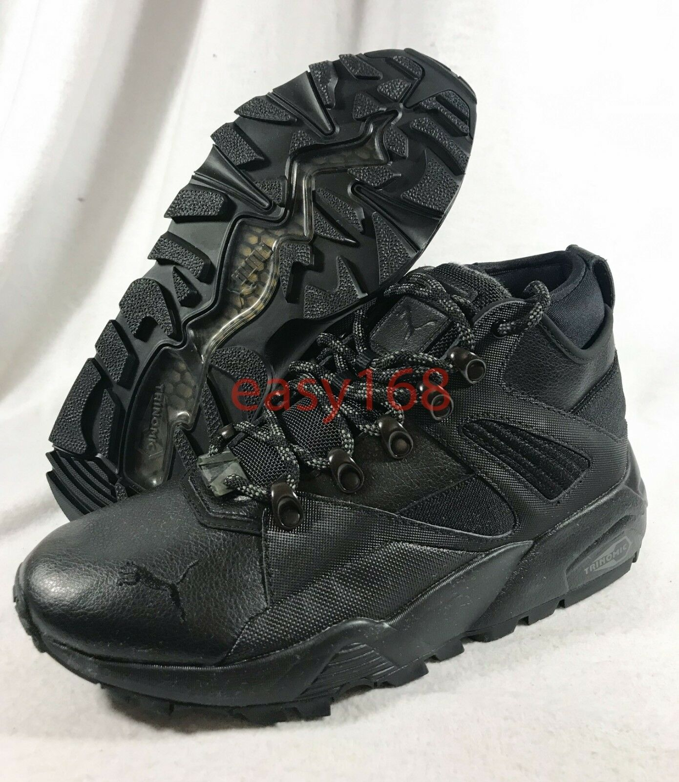 New Puma Blaze of Glory Boot Boot Boot Sz 8.5 Mens 363283 Trinomic Black Leather 40 Sock a22f2a