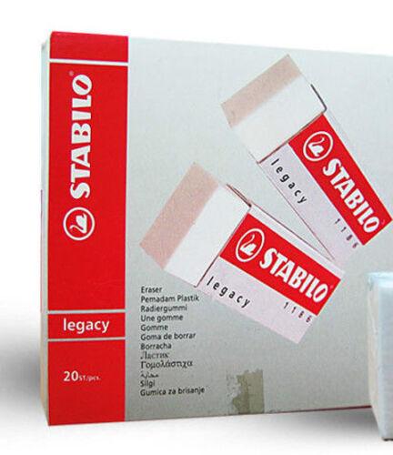 1186 Stabilo Legacy Plastic Erasers Box of 20 Erasers