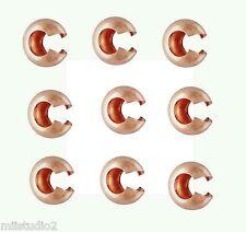 50x 3mm 14k ROSE gold filled CRIMP BEAD cover space gap filler shiny USA F04rg