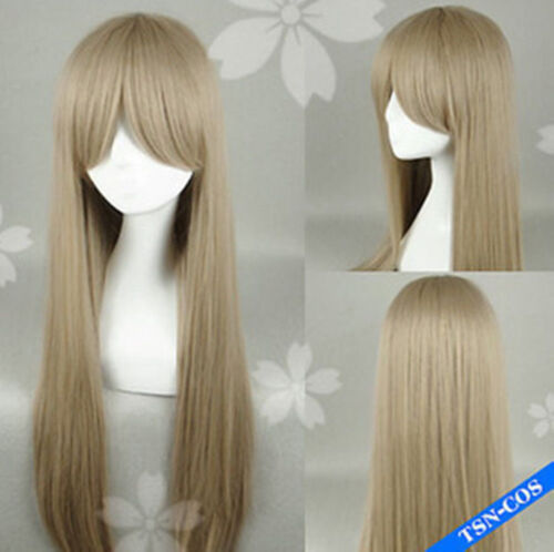 Axis Powers Hetalia APH Belarus,Light Brown Long Straight Cosplay Party Full Wig