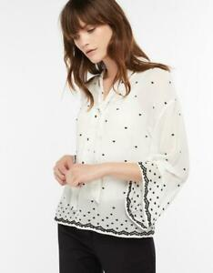 MONSOON-HALLE-HEART-EMBROIDERED-BLOUSE-Size-12-Or-14-Ivory-BNWT