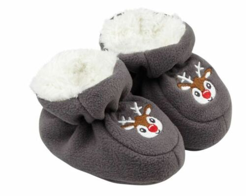 BABY polaire-Chaussures avec broderie Pantoufles Hiver Chaussures Teddy Peluche Moelleux