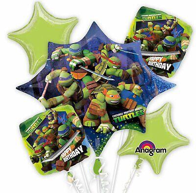 Anagram 32721 Teenage Mutant Ninja Turtles Balloon Bouquet Multicolored