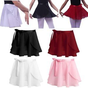 192092ca2488 Toddler Kids Girls Chiffon Dance Basic Wrap Skirt Ballet Tutu Dance ...