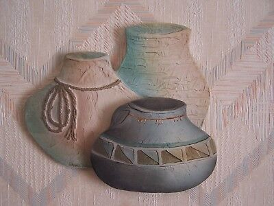 Southwestern Indian Pots Wall Hanging Zia Jars Connie Baker