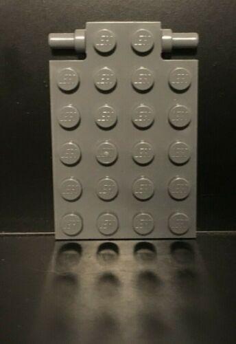Modified 4 x 6 w// Trap Door Hinge LEGO 10x 4595710 92099 Dark Stone Gray Plate