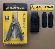 Leatherman CHARGE TTi Titanium+Leather Sheath+42pcs Bit Kit