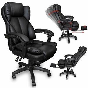 Schreibtischstuhl-Burostuhl-Gamingstuhl-Racing-Chair-Chefsessel-mit-Fusstutze