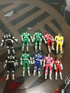 LOT-Of-9-Vintage-1993-Bandai-Power-Rangers-Action-Figures-Set-Flip-Head-1-Extra