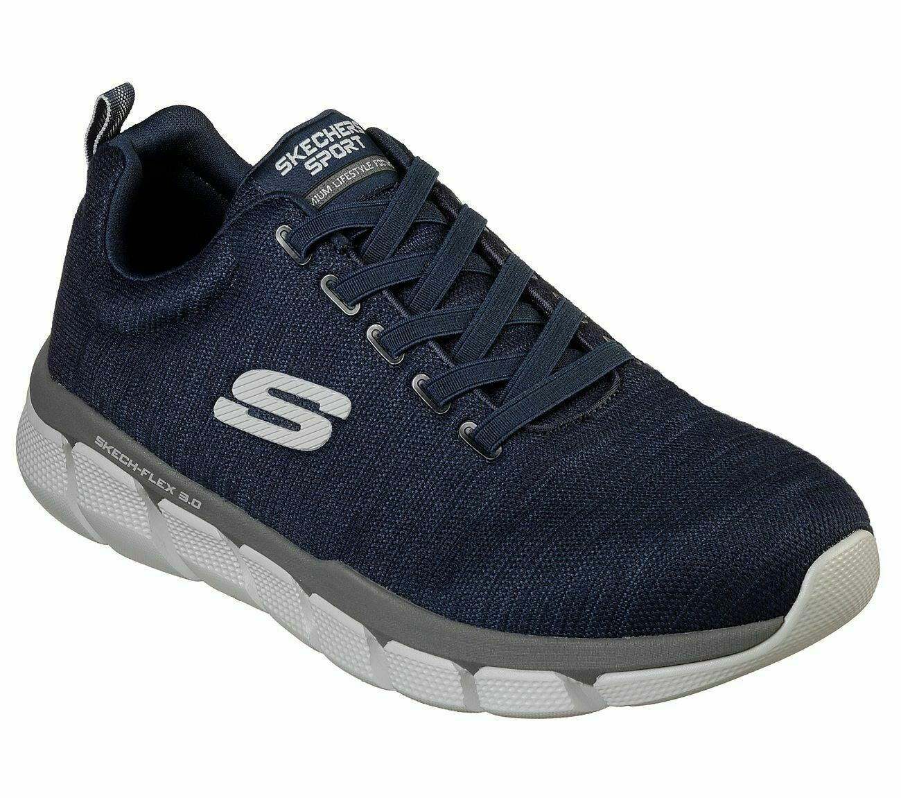 Memory Foam  Extra Wide Width Navy Skechers shoes Men's Mesh Sport Comfort 52843