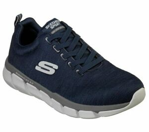 Men-039-s-Memory-Foam-Navy-Skechers-Shoes-Men-039-s-Mesh-Sport-Comfort-Casual-52843