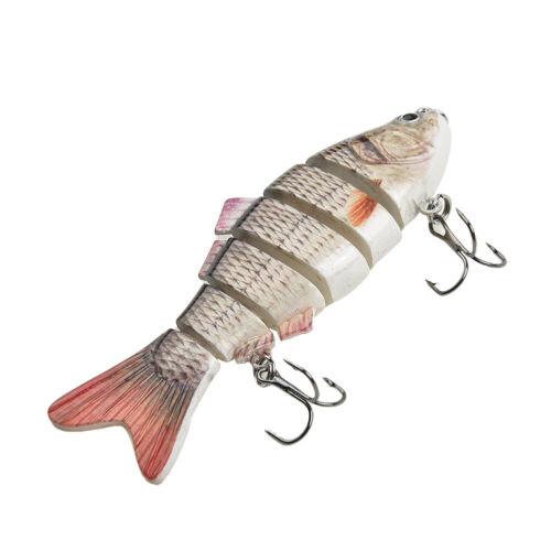 Stahl 10cm 30g Köder Lebensecht Bass Pike Minnow Fischköder Haken Kunststoff