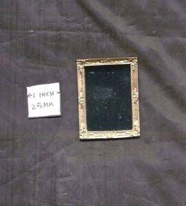 Mirror Gilded / Gold - 1/12 scale dollhouse metal miniature ISL3209