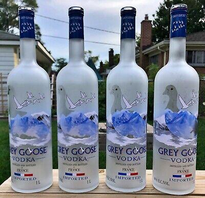 Lote De 4 Grey Goose Vodka Botellas 1 Litros Arts Crafts Limpiado Vacía Ebay