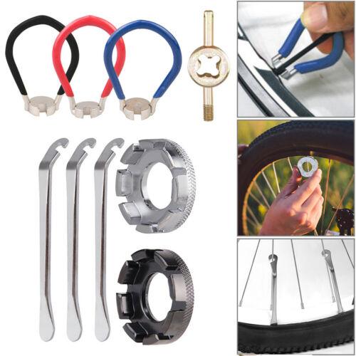 Multi-function Mountain Bike Bicycle Spoke Wrench Tire Repair Tools Kit Set
