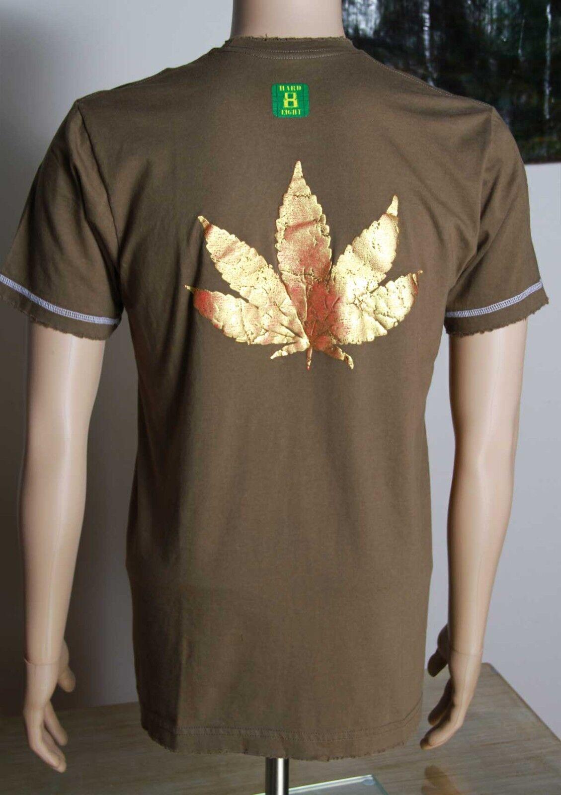 HARD 8 Raised metallic leaf T-shirt