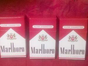 Lot-of-3-Mini-Marlboro-Flip-Top-Box-Wood-Stick-Matches-Philip-Morris-1996