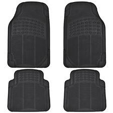 Car Rubber Floor Mats For All Weather Sedan Suv Truck 4 Pc Set Trimmable Black Fits 2003 Honda Pilot