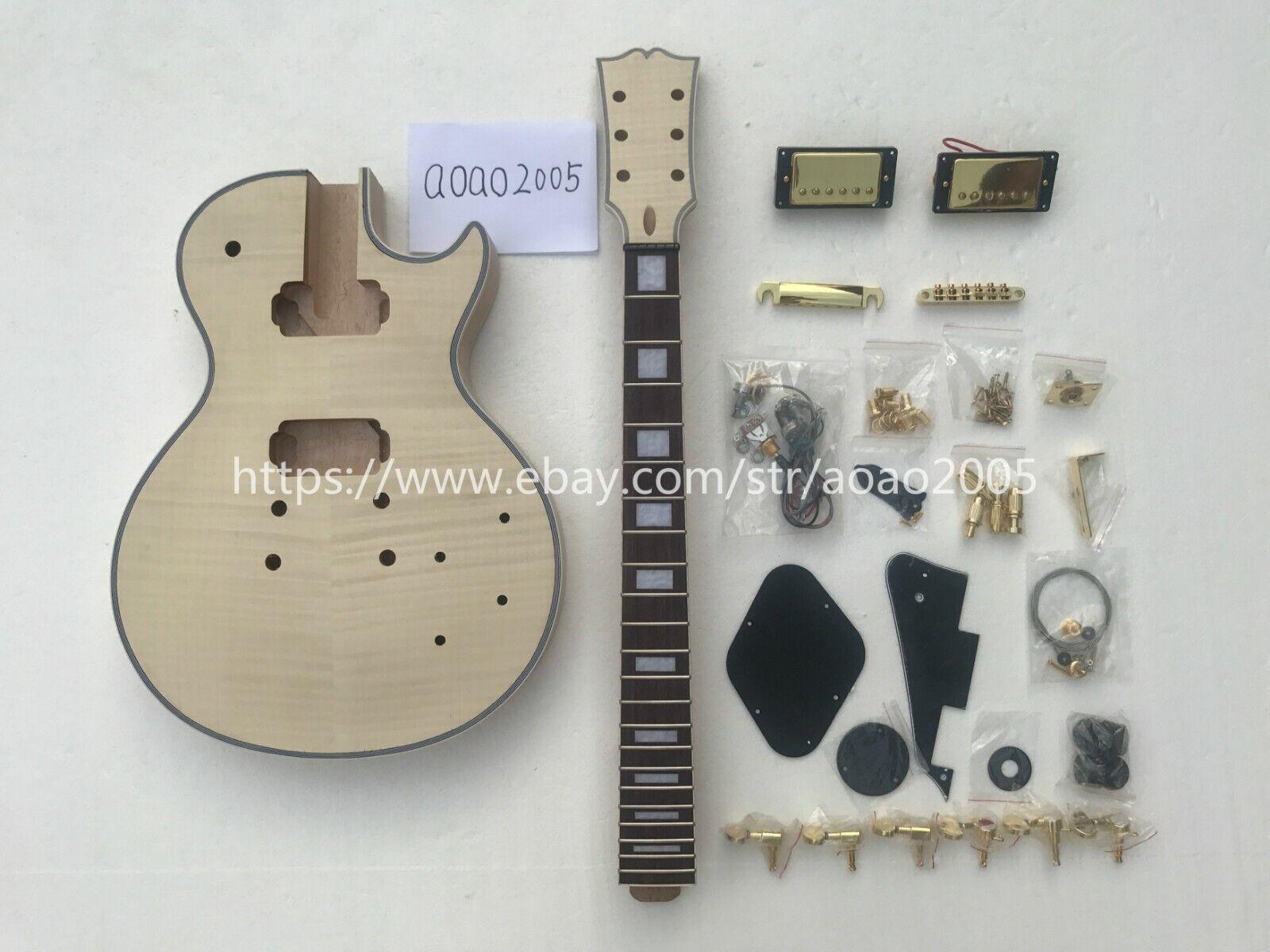 DIY LP electric guitar kit (body neck all accessoires) kann individuell angepasst werden