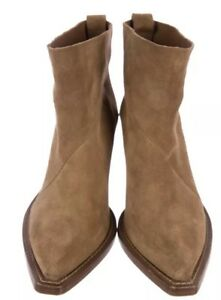 the best attitude 66740 5cb2c Details about Acne Studios Donna Tan Suede Boots Size 11/41