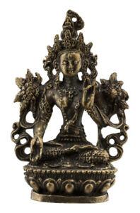 Amuleto Tibetano Tara Verde-Boddhisattva-Statuetta 58mm 6516 W59