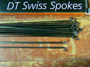 "DT SWISS AEROLITE Spokes Black /""Bladed/"" STRAIGHT-PULL *Any Qty**Any Length* NEW"