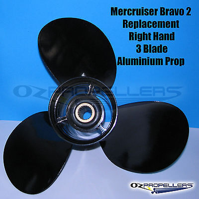 16 x 16 Mercruiser 3 Blade Aluminium Propeller Prop Replaces OEM: 48-16440A45