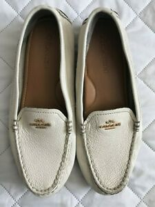 White Leather Loafers Womens Pre-owned
