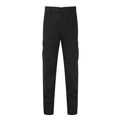 Fort Workforce black 210g polycotton cargo work trouser #916
