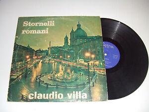 Claudio-Villa-Stornelli-Romani-Disco-33-Giri-LP-Album-Vinile-ITALIA-1966-Folk