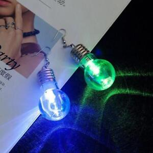 Details about LED Blinking Bulb Ear Hook Dangle Jewelry Earring Light Up  Earring Stud T
