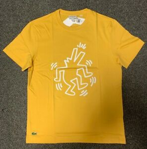 45437f11 Lacoste x Keith Haring T Shirt # TH4334-51-G6N Mustard 2019 New Men ...