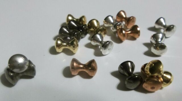 3 SIZES 3 COLORS BRASS FLY TYING HOURGLASS EYES 20pcs