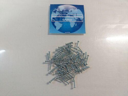 100 Stück Linsenkopfschrauben  Kreuz Stahl verzinkt M 2,5 x 16 mm RC Modellbau