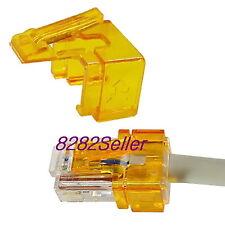 10PCS orange RJ45 plug SOS modular connector fix Replace Repair(No tool needed)