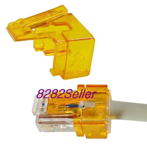 No tool needed 10PCS orange RJ45 plug SOS modular connector fix Replace Repair