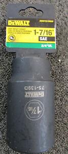DEWALT 3//4 Drive Impact Socket Deep 6 PT 1 1//16