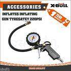 Tire Air Inflator Tyre Pressure Meter Car Truck  Pump Hose Gauge Compressor Tool