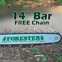 14 Forester Laminated Bar W/ Free Chain 3/8 Pitch,043 Gauge,50 Link Fits Stihl
