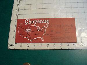 vintage HIGH GRADE travel paper: CHEYENNE WYOMING old west 1956