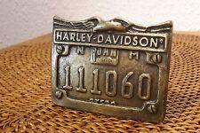 HARLEY DAVIDSON Gürtelschnalle aus Messing! Bronze. Brass belt buckle! Exklusiv