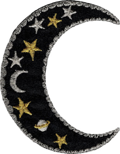 """20076 Celestial Sun Moon Stars Outer Space Badge Applique Sew Iron On Patch 3/"""""""