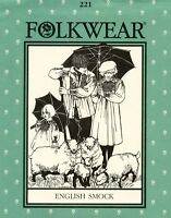 Folkwear 221 English Smock In 2 Lengths Sewing Pattern For Men, Women & Children