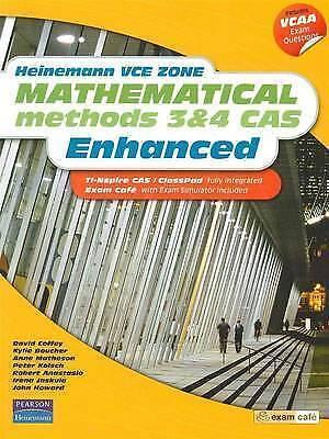 Heinemann Vce Zone Mathematical Methods 3 & 4 Cas Enhanced by Kylie Boucher,...