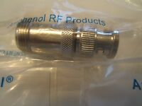 3 Lot Amphenol 31-217 Rf / Coaxial Adapter, Bnc Plug -to- N Female Jack