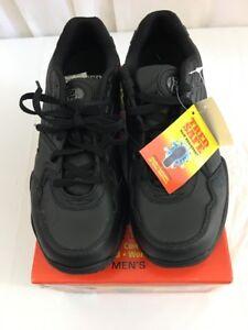 82259af84ea Men s TRED SAFE BASIC Slip Resistant Genuine Leather Shoes Black 9W ...