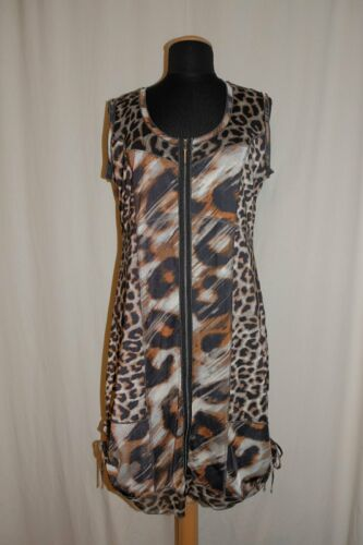 Biba Sleeveless Dress Tunic Pencil Dress With Leop
